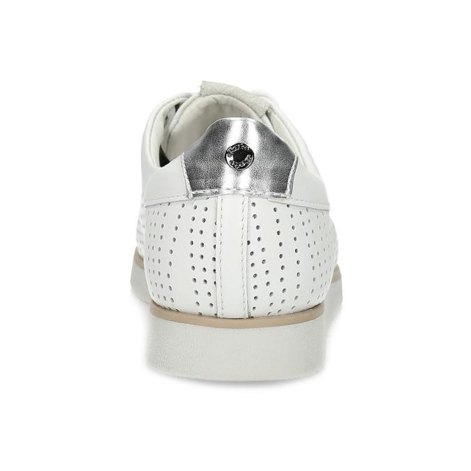 Biele kožené dámske tenisky s perforáciou flexible, biela, 524-1606 - 15
