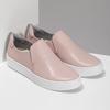 Ružová dámska kožená Slip-on obuv vagabond, ružová, 616-8079 - 26