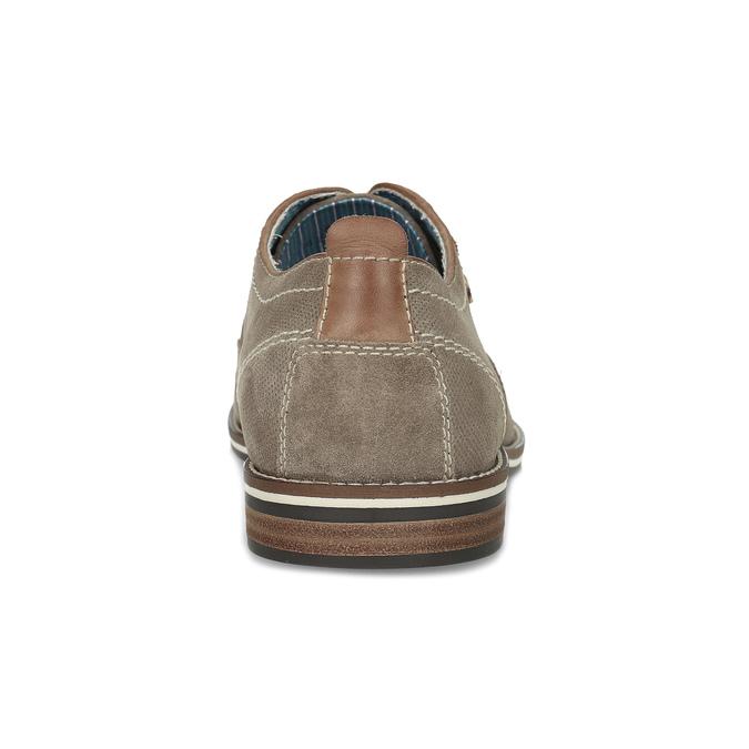 Pánske poltopánky z brúsenej kože bata, béžová, 823-2634 - 15