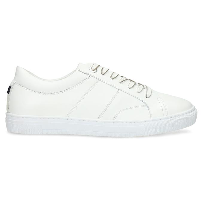 Biele kožené pánske tenisky bata, biela, 844-1649 - 19