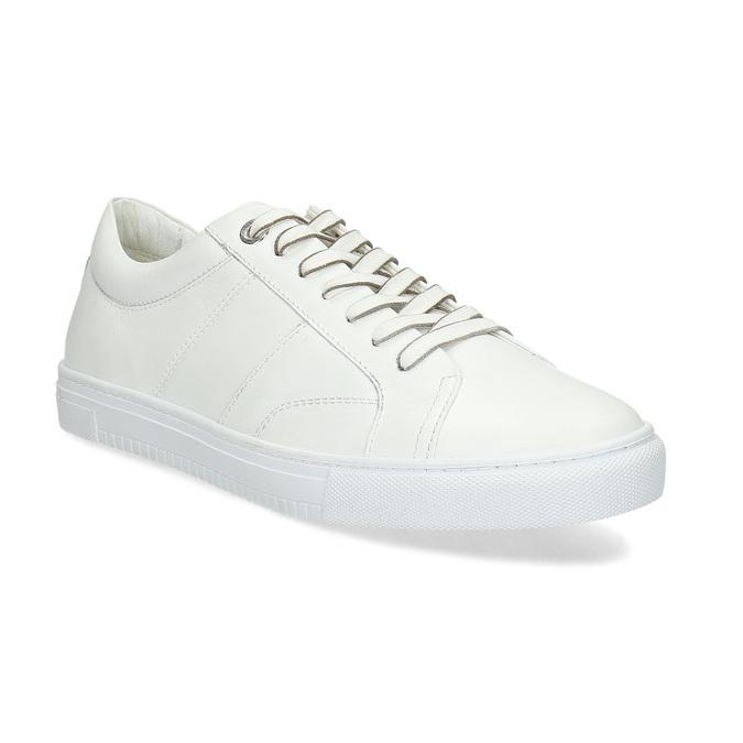 Biele kožené pánske tenisky bata, biela, 844-1649 - 13