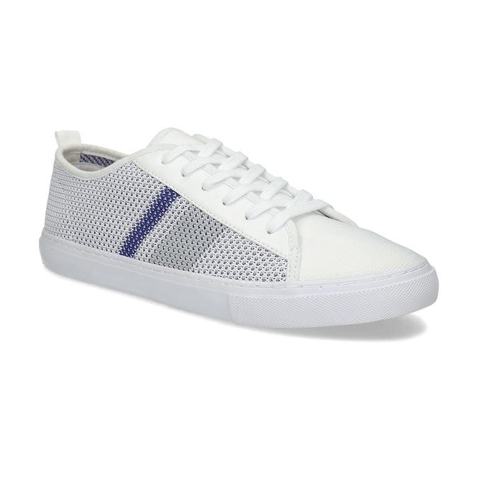 Bielo-modré priedušné tenisky bata-red-label, biela, 849-1601 - 13