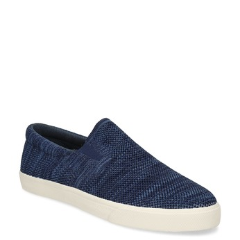 Tmavomodré slip-on tenisky bata-red-label, modrá, 839-9603 - 13