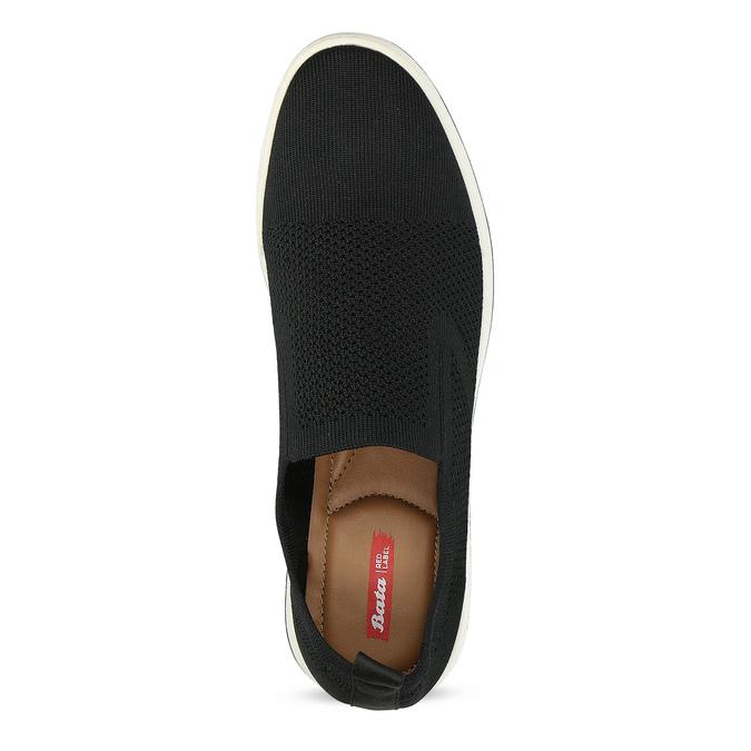 Čierne pánske tenisky z úpletu bata-red-label, čierna, 839-6605 - 17