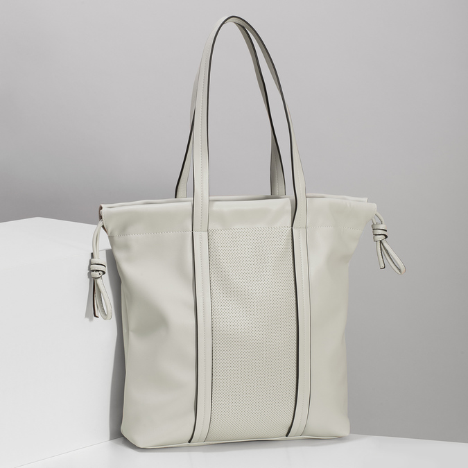 Béžová dámská kabelka s jemnou perforáciou bata, béžová, 961-8933 - 17