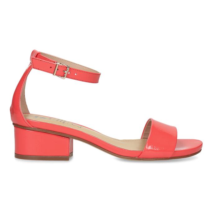 Dámske sandále na nízkom podpätku insolia, červená, 661-5620 - 19
