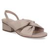 Dámske béžové sandále na nízkom podpätku insolia, béžová, 661-8621 - 13