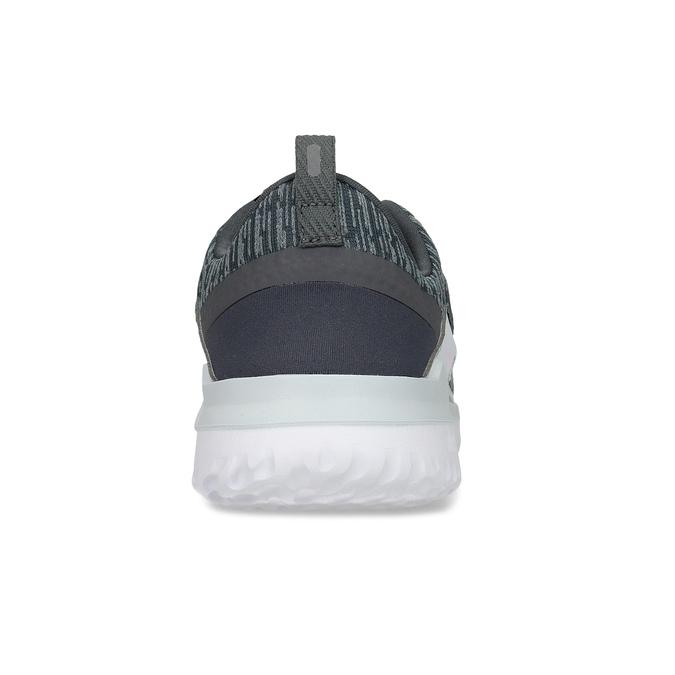 Dámske tenisky so žíháním a bielou podrážkou nike, šedá, 509-2112 - 15