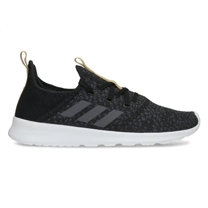 Čierne dámske tenisky s hnedým detailom adidas, čierna, 509-6469 - 19