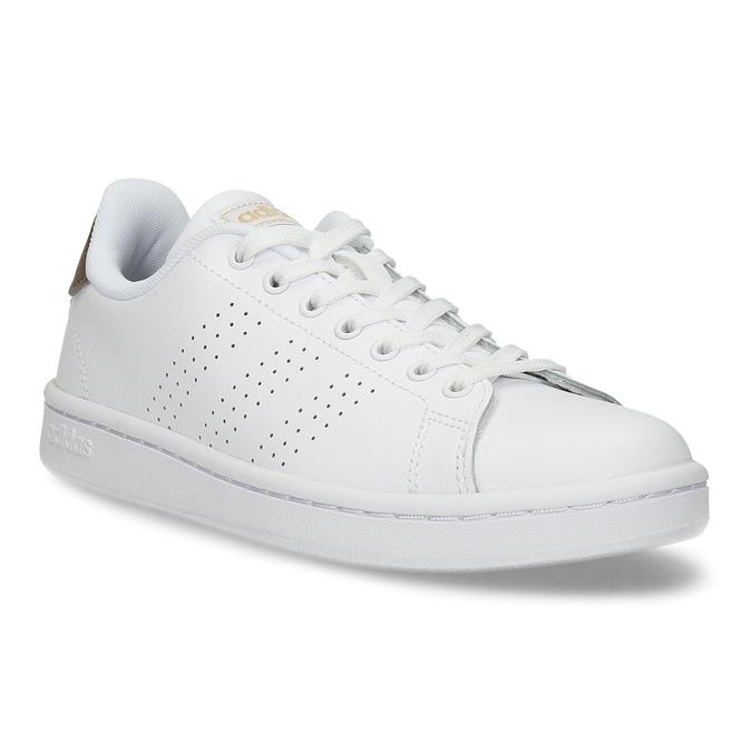 Dámske biele tenisky s perforáciou adidas, biela, 501-1854 - 13