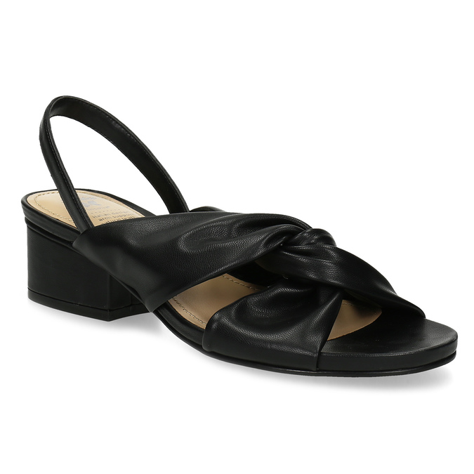 47f04325f3d3 Insolia Čierne dámske sandále na nízkom podpätku - Insolia