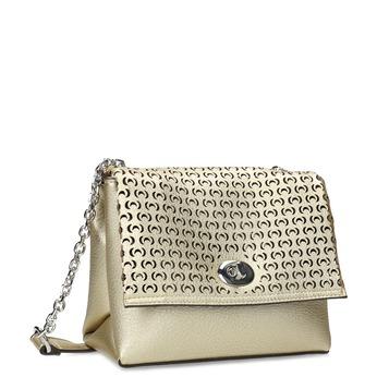 Zlatá dámska Crossbody kabelka s perforáciou bata, zlatá, 961-8941 - 13