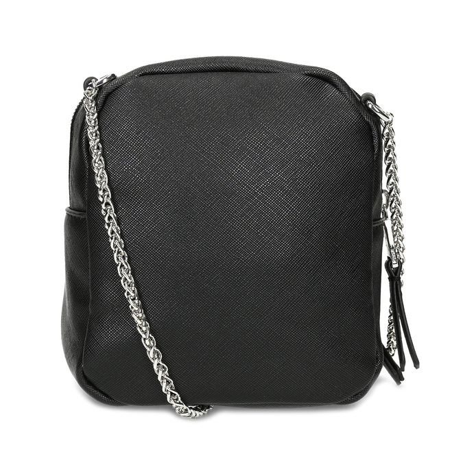 Čierna Crossbody kabelka s retiazkou a s cvočkami bata, čierna, 961-6965 - 16