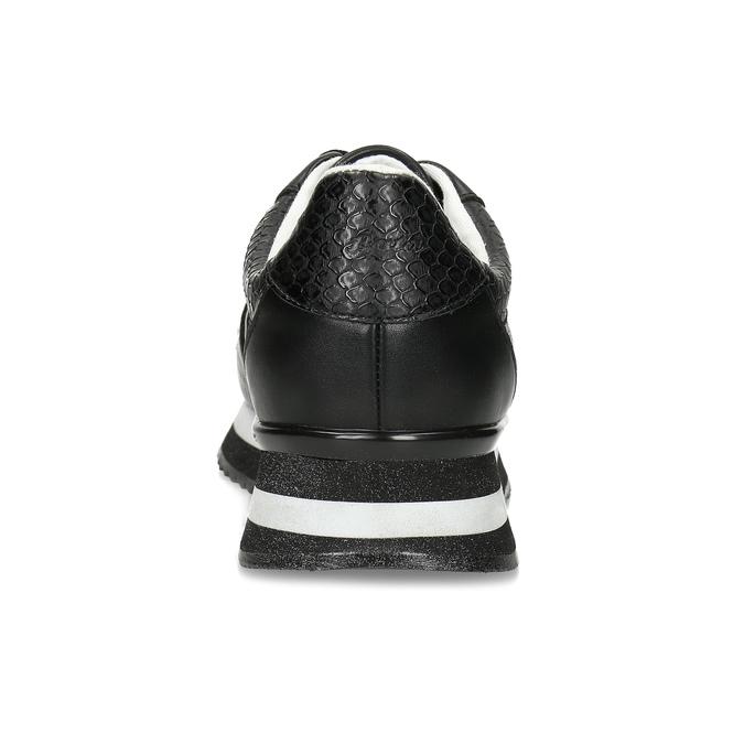 Čierne dámske tenisky s výraznou podrážkou bata-light, čierna, 521-6647 - 15