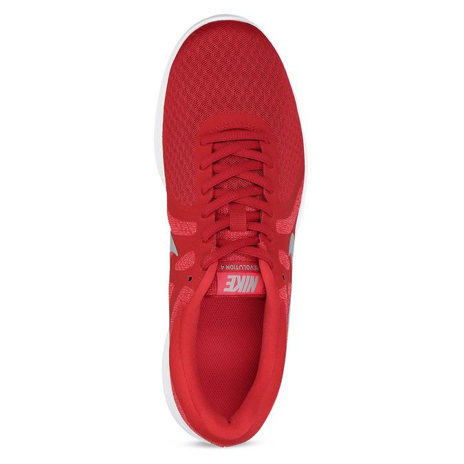 Červené pánske tenisky s bielou podrážkou nike, červená, 809-5100 - 17