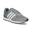 Pánske sivé tenisky kožené adidas, šedá, 803-2102 - 13