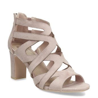 Sandále na stabilnom podpätku béžové insolia, béžová, 661-8611 - 13