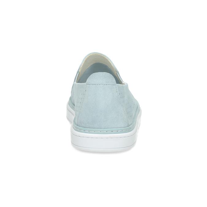 Dámske kožené Slip-on svetlomodré bata, modrá, 533-9601 - 15