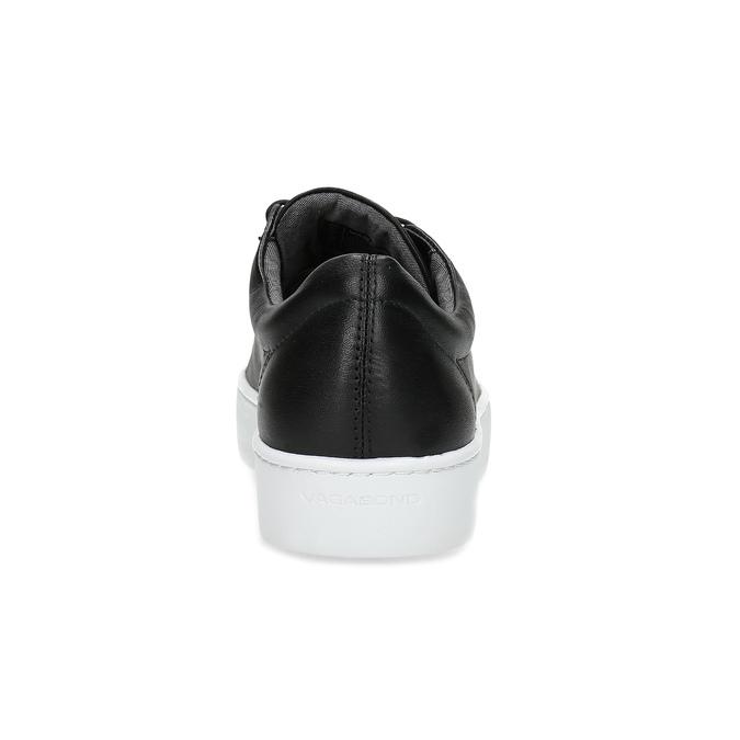 Čierne kožené tenisky vagabond, čierna, 624-6014 - 15