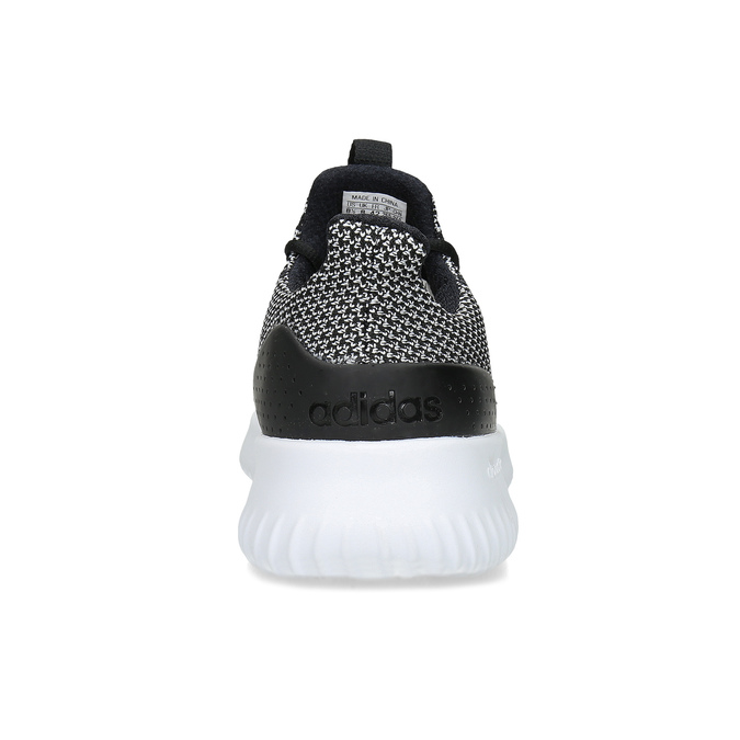 Čiernobiele pánske tenisky s výraznou podrážkou adidas, čierna, 809-6304 - 15