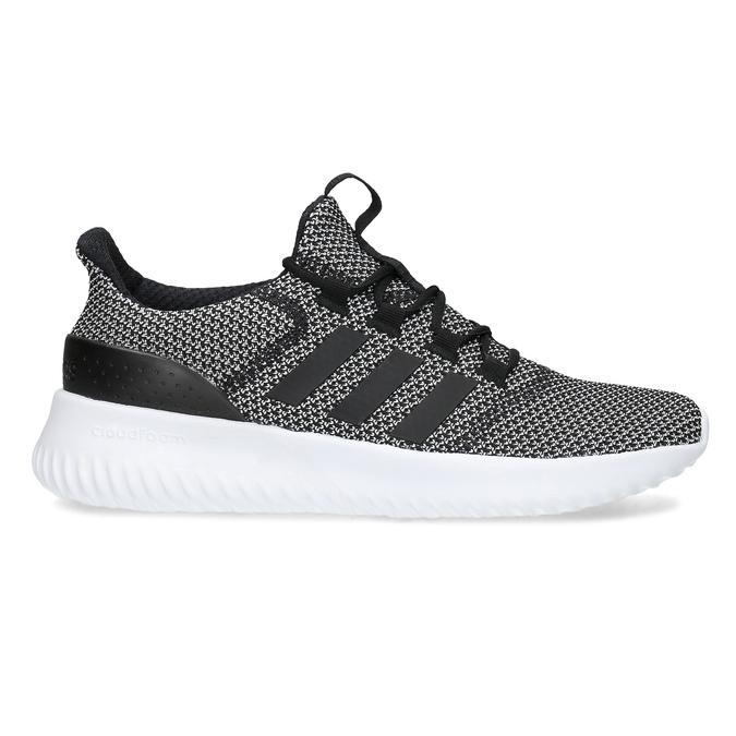 Čiernobiele pánske tenisky s výraznou podrážkou adidas, čierna, 809-6304 - 19