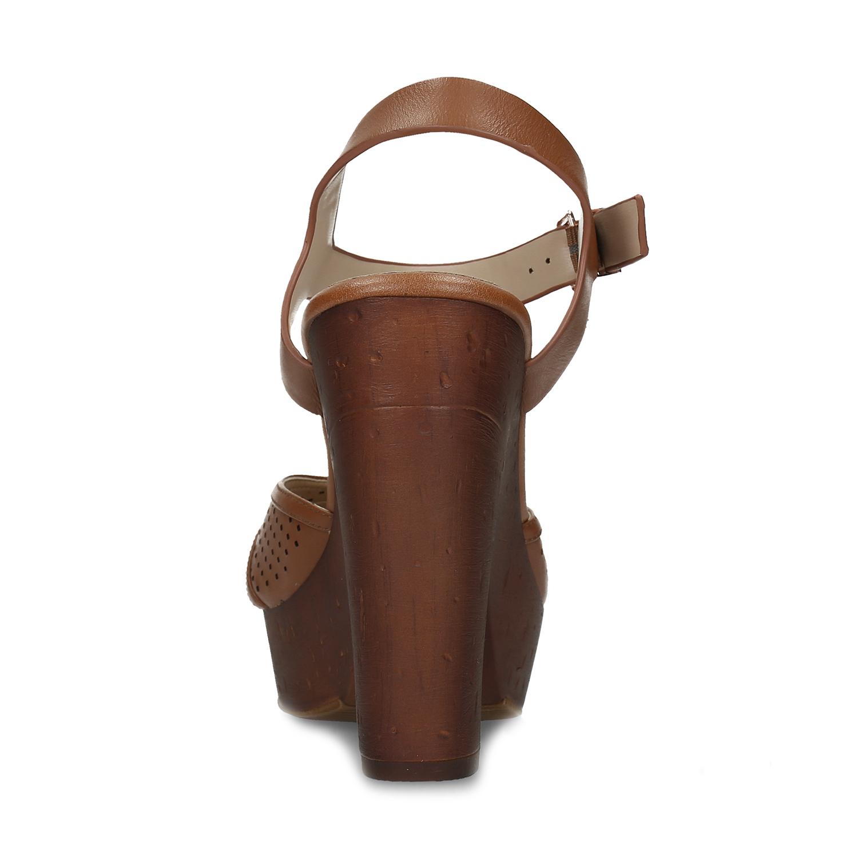 ebb0c2e18 ... Dámske hnedé sandále na stabilnom podpätku insolia, hnedá, 761-3645 -  15 ...