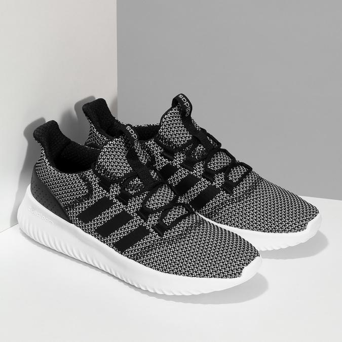 Čiernobiele pánske tenisky s výraznou podrážkou adidas, čierna, 809-6304 - 26