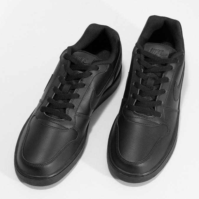 Pánske ležérne čierne tenisky s prešitím nike, čierna, 801-6124 - 16