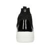 Čierna členková dámska obuv s kamienkami bata-light, čierna, 599-6628 - 15