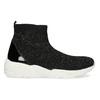 Čierna členková dámska obuv s kamienkami bata-light, čierna, 599-6628 - 19