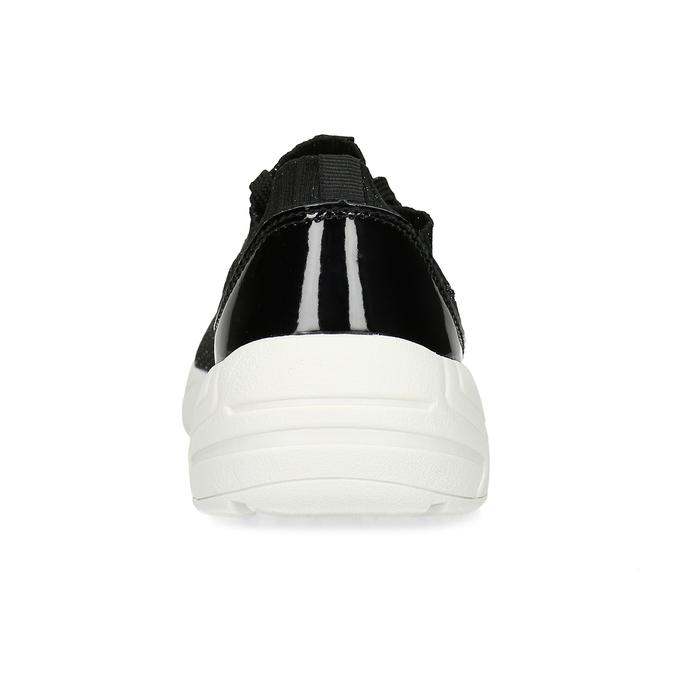 Čierne dámske tenisky z úpletu bata-light, čierna, 549-6615 - 15