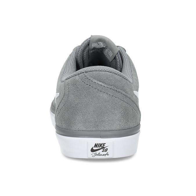 Sivé pánske tenisky z brúsenej kože nike, šedá, 803-2106 - 15