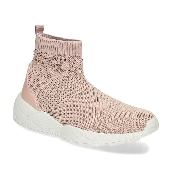 Dámske členkové tenisky ružové bata-light, ružová, 599-5628 - 13