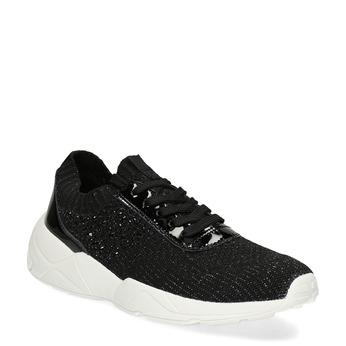 Čierne dámske tenisky z úpletu bata-light, čierna, 549-6615 - 13