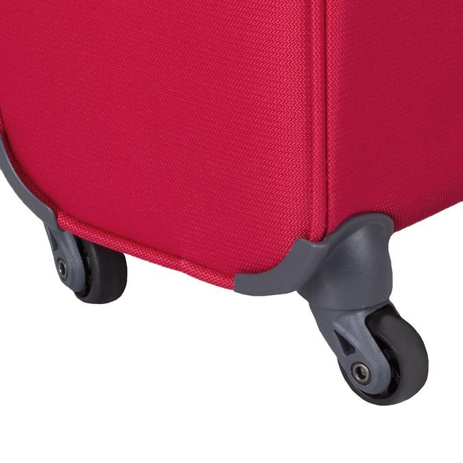 Kvalitný červený textilný kufor samsonite, červená, 960-5037 - 15