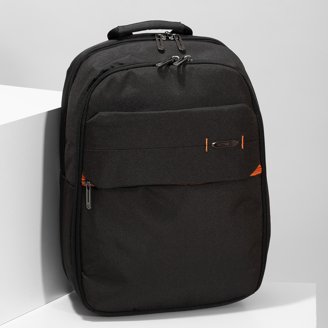 Čierny kvalitný cestovný batoh samsonite, čierna, 960-6056 - 17