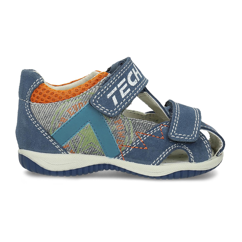 e6d6823b7 ... Modré kožené detské sandále na suchý zips bubblegummers, modrá,  163-9630 - 19 ...
