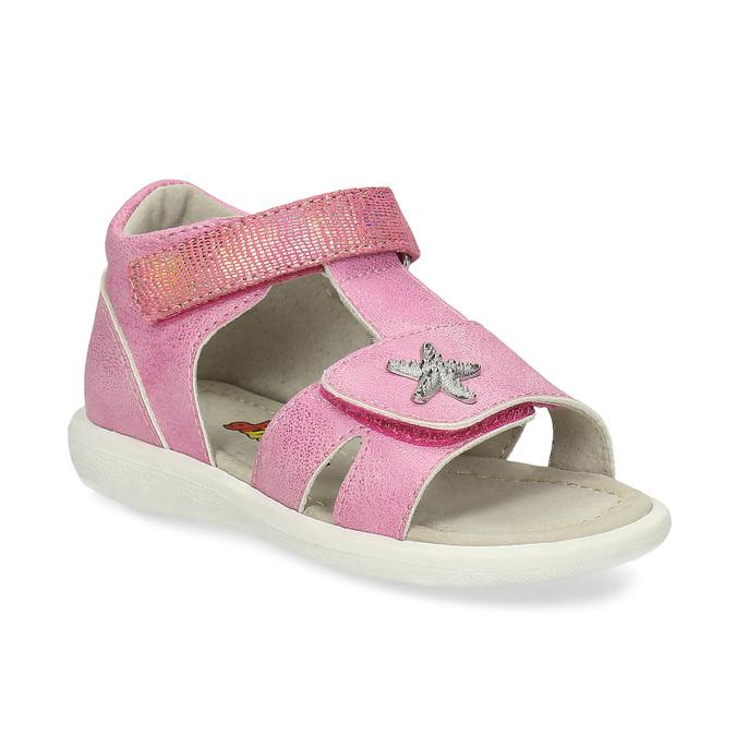 93884bdcf Detské ružové sandále so striebornou hviezdicou bubblegummers, ružová,  161-5611 - 13