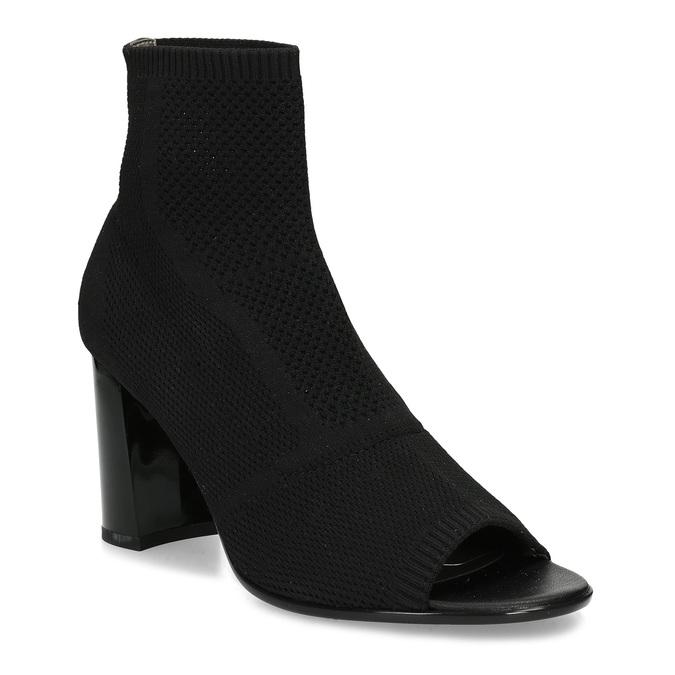 Čierne dámske čižmy na stabilnom podpätku bata-b-flex, čierna, 799-6646 - 13