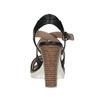 Kožené čierne sandále na prírodnom podpätku flexible, čierna, 763-6631 - 15