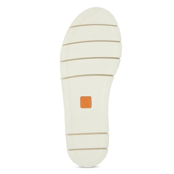 Čierne dámske kožené sandále na svetlej podrážke flexible, čierna, 563-6601 - 18