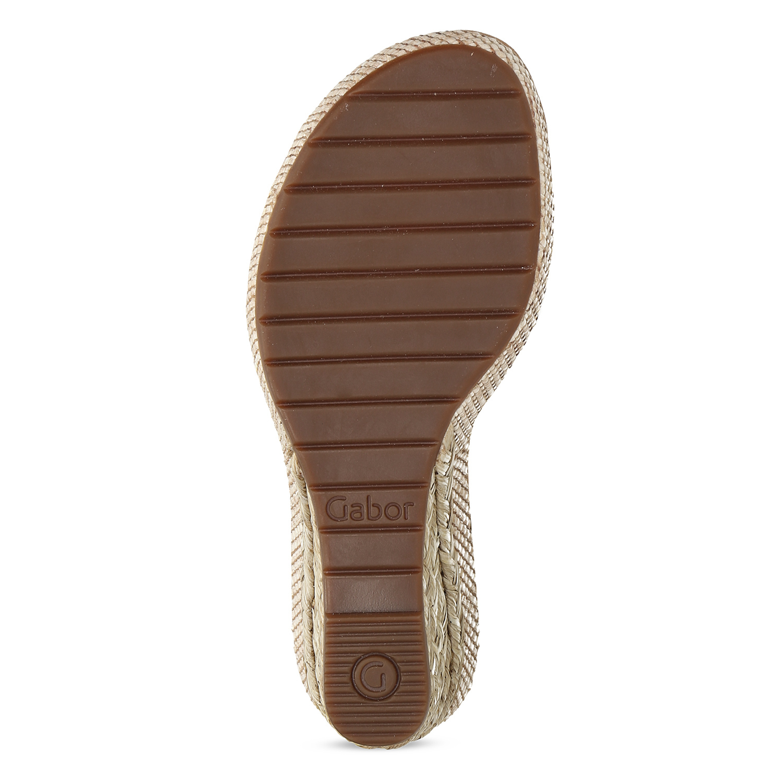 185963ee53176 ... Biele kožené sandále na prírodnej platforme gabor, biela, 763-1600 - 18