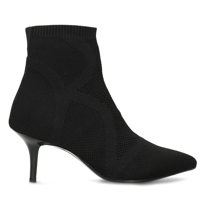 Čierna členková obuv na podpätku bata-b-flex, čierna, 799-6648 - 19