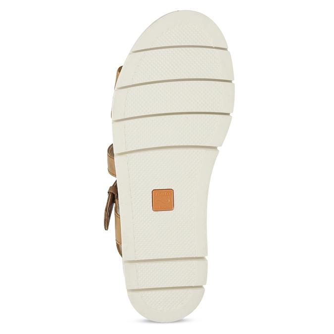 Dámske kožené sandále na svetlej podrážke flexible, hnedá, 563-4601 - 18