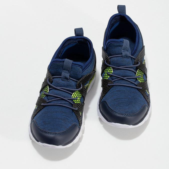 Modré detské tenisky s neonovým detailom mini-b, modrá, 319-9396 - 16