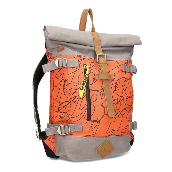 Oranžový unisex batoh so vzorom bata-colours-of-ostrava, oranžová, 969-5705 - 13
