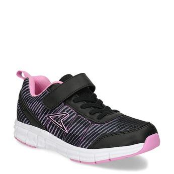c5d1ea3ce Čierne detské tenisky s ružovými detailmi power, ružová, 309-5413 - 13