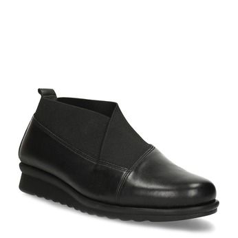 Dámske čierne kožené poltopánky comfit, čierna, 514-6601 - 13