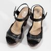 Dámske čierne sandále na prírodnej platforme insolia, čierna, 761-6645 - 16