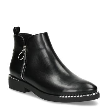 Dámska čierna členková obuv so zipsom bata, čierna, 591-6601 - 13